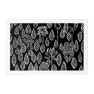 black lotus acrylic wall art