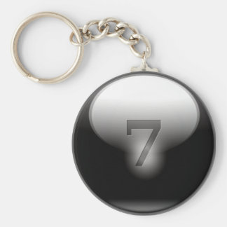 Black Lucky 7 Keychain
