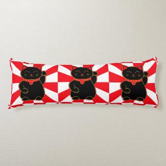 Black Lucky Cat Body Pillow