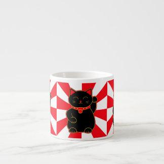 Black Lucky Cat Espresso Cup