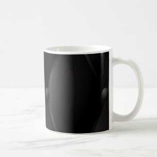 Black luxury buttoned leather coffee mug