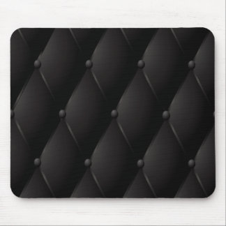Black luxury buttoned leather mouse pad