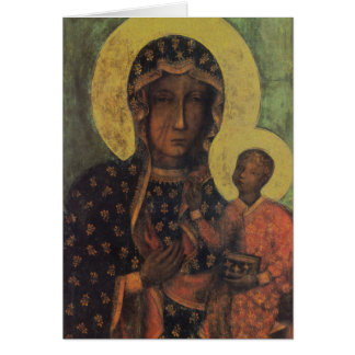 Black Madonna of Czestochowa Greeting Card