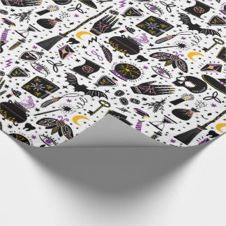 Black Magic Halloween Wrapping Paper