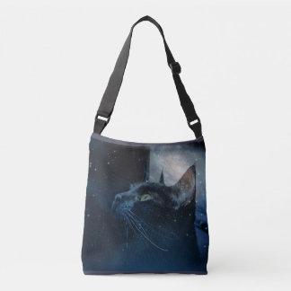 Black Magic Kitty crossover shoulder bag