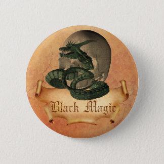 Black Magic Skull 2 Inch Round Button
