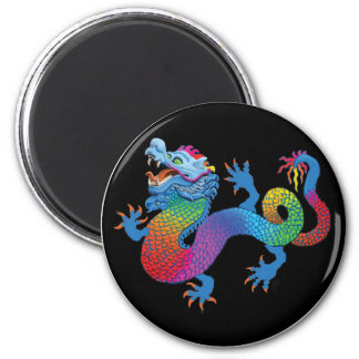 Black Magnet with Colorful Dragon