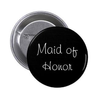 Black Maid of Honor Pin