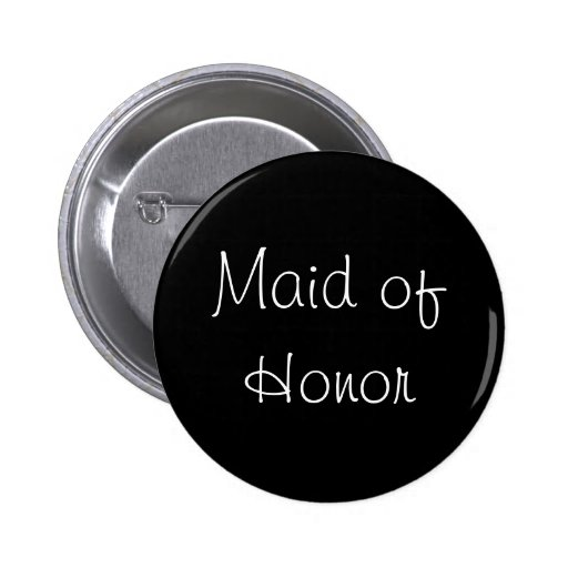 Black Maid of Honor Pin