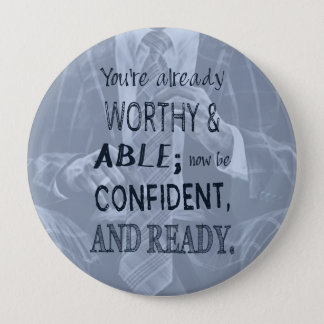 Black Man Confidence 4 Inch Round Button