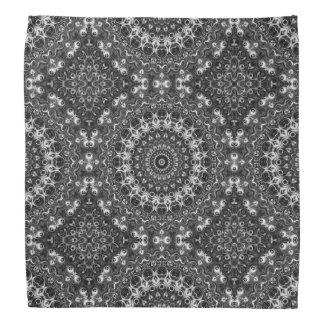 Black Mandala Pattern Kaleidoscope Design Bandana