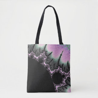 black mandy pink sunrise tote bag