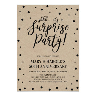 Black & Marble | 50th Surprise Wedding Anniversary Card