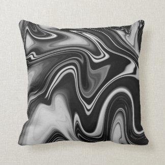 Black Marble Decorative Pillow