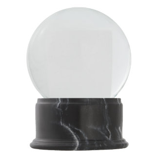 Black Marble Finish Snow Globe