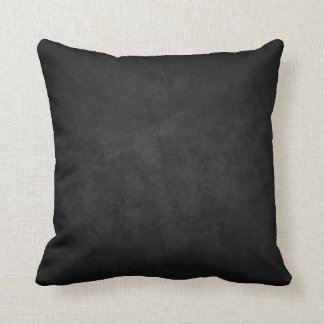 Black Marble Grunge Plush Throw Pillow
