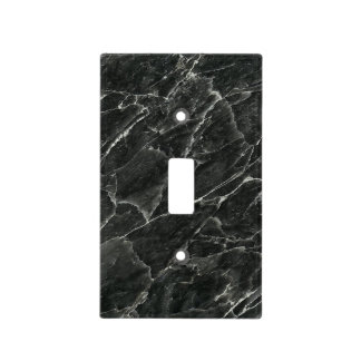 Black Marble Light Switch Cover