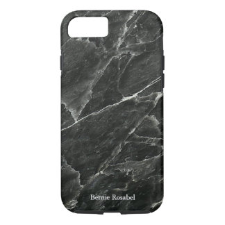 Black Marble Personalized iPhone 7 Case