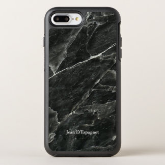 Black Marble Personalized OtterBox Symmetry iPhone 7 Plus Case