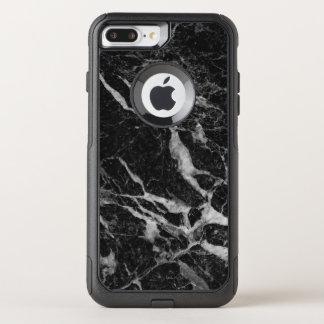 Black Marble Print Modern Design OtterBox Commuter iPhone 8 Plus/7 Plus Case