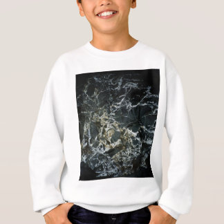 BLACK MARBLE ROCK Kids Sweatshirt