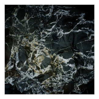 BLACK MARBLE ROCK Poster