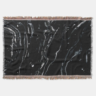 Black Marble Space Throw
