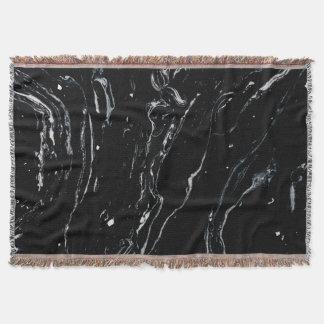 Black Marble Space Throw Blanket