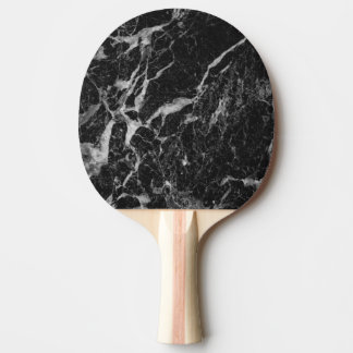 Black Marble Stone Ping Pong Paddle