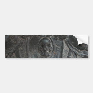 Black Marble Stone Skull Pirate Bumper Sticker