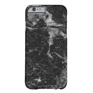 Black Marble Stone Texture Monogram Barely There iPhone 6 Case