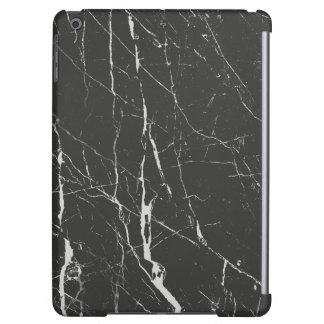 Black Marble Stone With Gray Textured iPad Air Cases