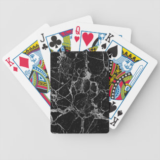 Black Marble with White Veining Bicycle Playing Cards