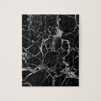 Black Marble with White Veining Jigsaw Puzzle