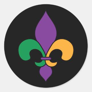 Black Mardi Gras Fleur de Lis Stickers