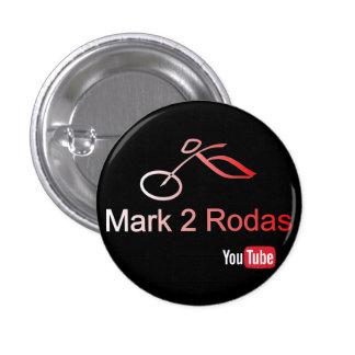 Black Mark2Rodas YouTube 1 Inch Round Button