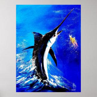 """Black Marlin """"Black Attack"""" Poster"""