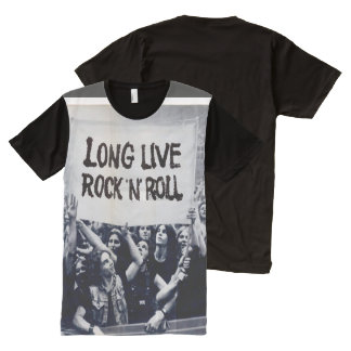 "Black masculine t-shirt ""long Live Rock N Roll """