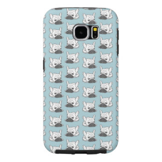 Black Mask Cream Frenchie Illustration Samsung Galaxy S6 Cases