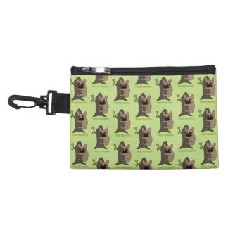 Black mask fawn Frenchie is a cute tree hugger Accessory Bag