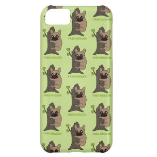 Black mask fawn Frenchie is a cute tree hugger iPhone 5C Covers