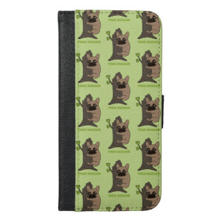 Black mask fawn Frenchie is a cute tree hugger iPhone 6/6s Plus Wallet Case