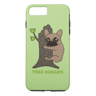 Black mask fawn Frenchie is a cute tree hugger iPhone 8 Plus/7 Plus Case