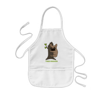 Black mask fawn Frenchie is a cute tree hugger Kids Apron