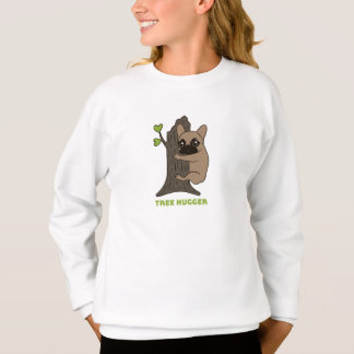 Black mask fawn Frenchie is a cute tree hugger Sweatshirt