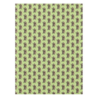 Black mask fawn Frenchie is a cute tree hugger Tablecloth