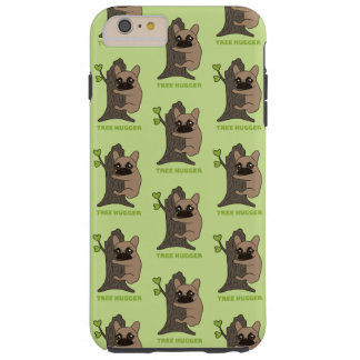 Black mask fawn Frenchie is a cute tree hugger Tough iPhone 6 Plus Case