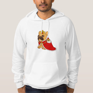 Black mask fawn Frenchie is the King of the house Hoodie
