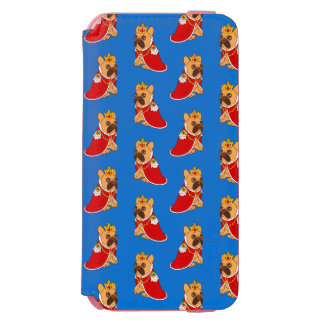 Black mask fawn Frenchie is the King of the house Incipio Watson™ iPhone 6 Wallet Case