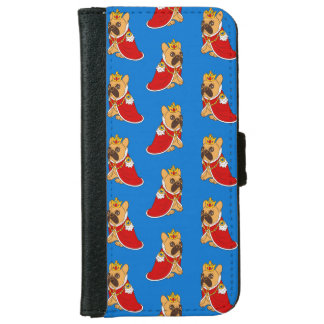 Black mask fawn Frenchie is the King of the house iPhone 6 Wallet Case